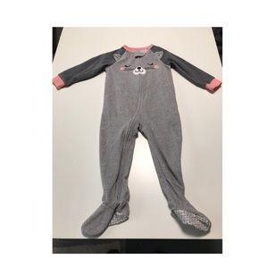 Carter's girls fleece footed pajamas size 24m